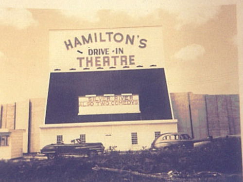 Hamilton Drive in Theatre 1940s Alabama