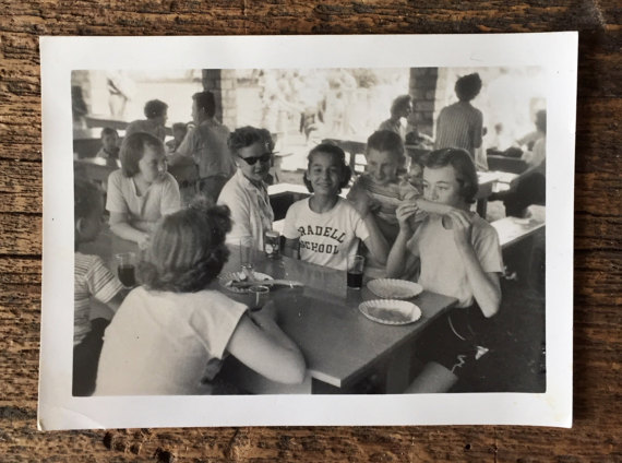 Original Vintage Photograph Camp Girls 1957