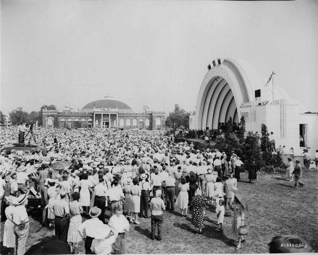 CNE Bandshell & Manufacturers Building, 1948.