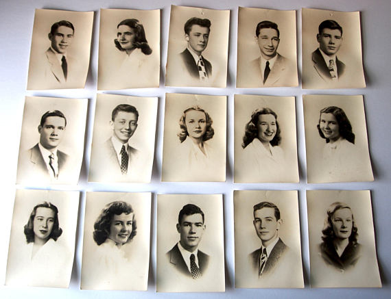 1940s High School Year Book Vintage Photo Collection