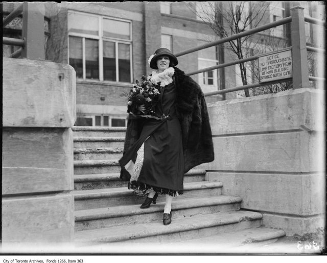 Irene Castle, full figure on steps. - March 16, 1923