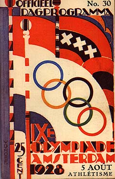 1928 summer olympics poster
