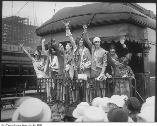 1928 Canadian women heading to Summer Olympics Vintage Photo
