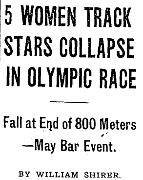 1928 summer olympics 800 metres controversary article