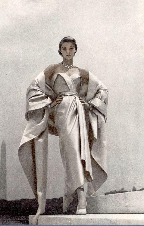 Jean Patchett modeling Dior, 1951