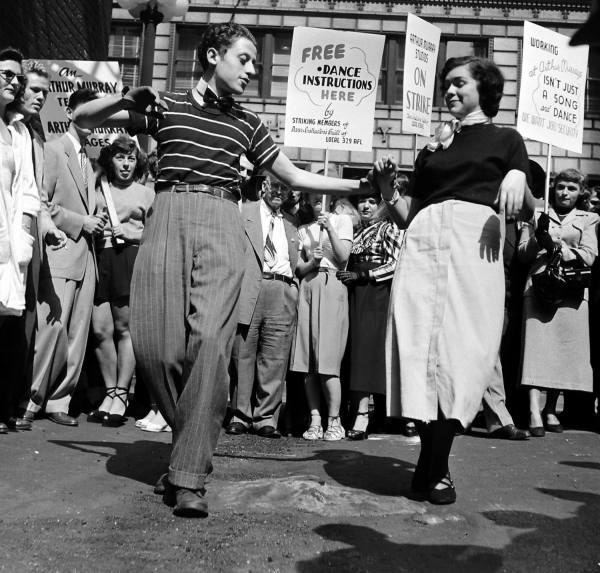 LIFE Dancing Teachers Strike Sept 9th, 1949 Vintage Image10