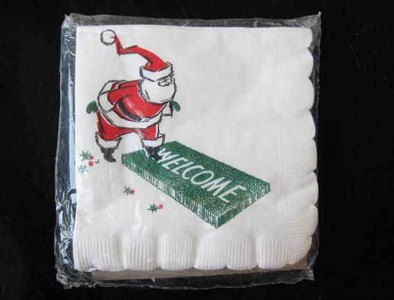 50s paper napkins still in their original packaging