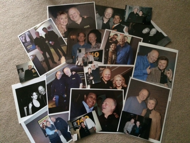 Gene Stevens Zoomer Radio with photo collages with some of the musicians he has met over the years