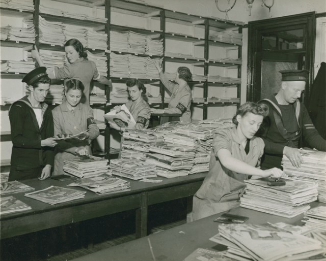 Magazine Department of the Naval Reading Service 1940s Halifax Canada