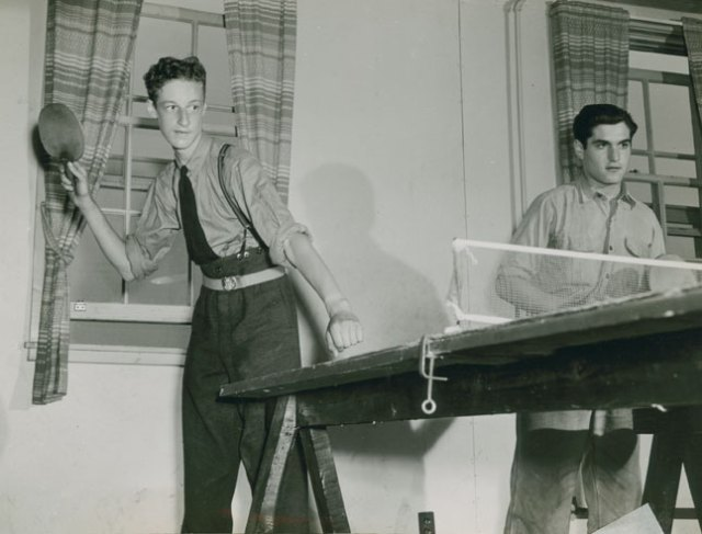 Ping pong game at RCAF Station Dartmouth