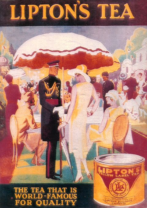 1931 Lipton Tea vintage advertising