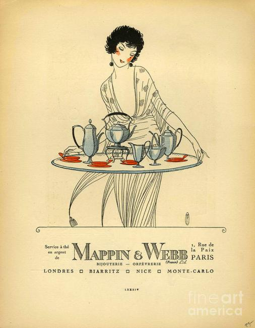Mappin And Webb 1920s France Cc Tea vintage advertising