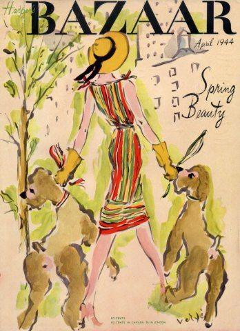 April 1944 cover of Harper's Bazaar Magazine
