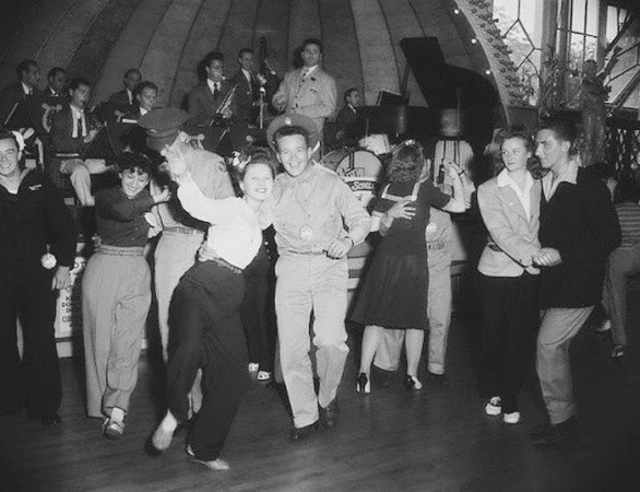 Lindy Hop In Nyc S Vintage Photo on 1940s Jitterbug Dance