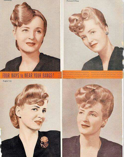 1940s Real Life Women S Hairstyles The Vintage Inn