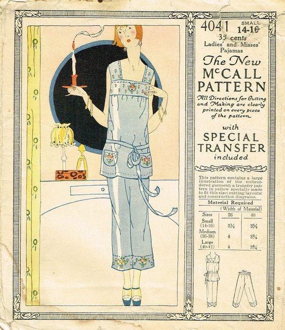 """Chic 1930/'s Vintage Sewing Pattern Lounging Pyjamas Pajamas WW2  Bust 34/"""""""