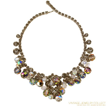 Drippy Juliana Rhinestone Bib Necklace and Earring Set Baubles