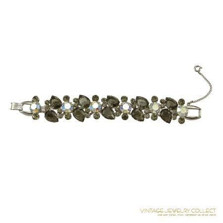 Stunning Juliana Grey Rhinestone Bracelet