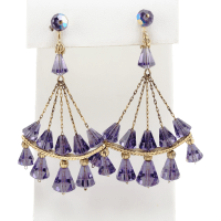 vintage crystal chandelier earrings