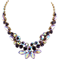 Vintage Rhinestone Crystal Necklace