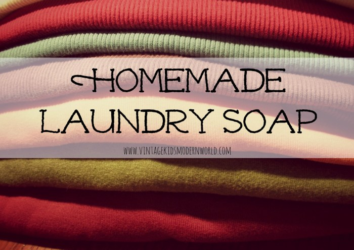 Homemade Laundry Soap :: Vintage Kids | Modern World