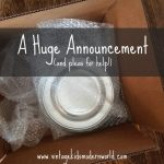 A Huge Announcement (and pleas for help!)