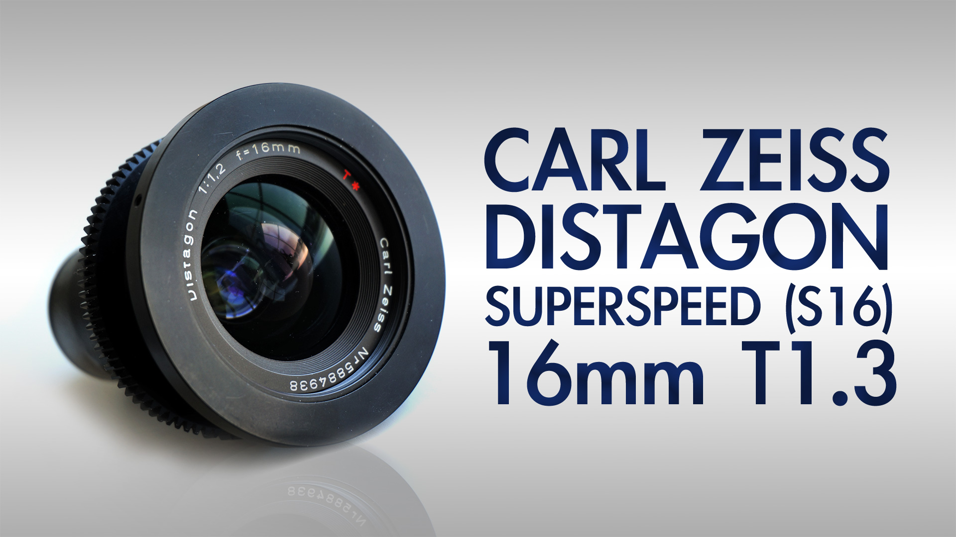 Carl Zeiss Superspeed (S16) MKI 16mm F1.2 / T1.3
