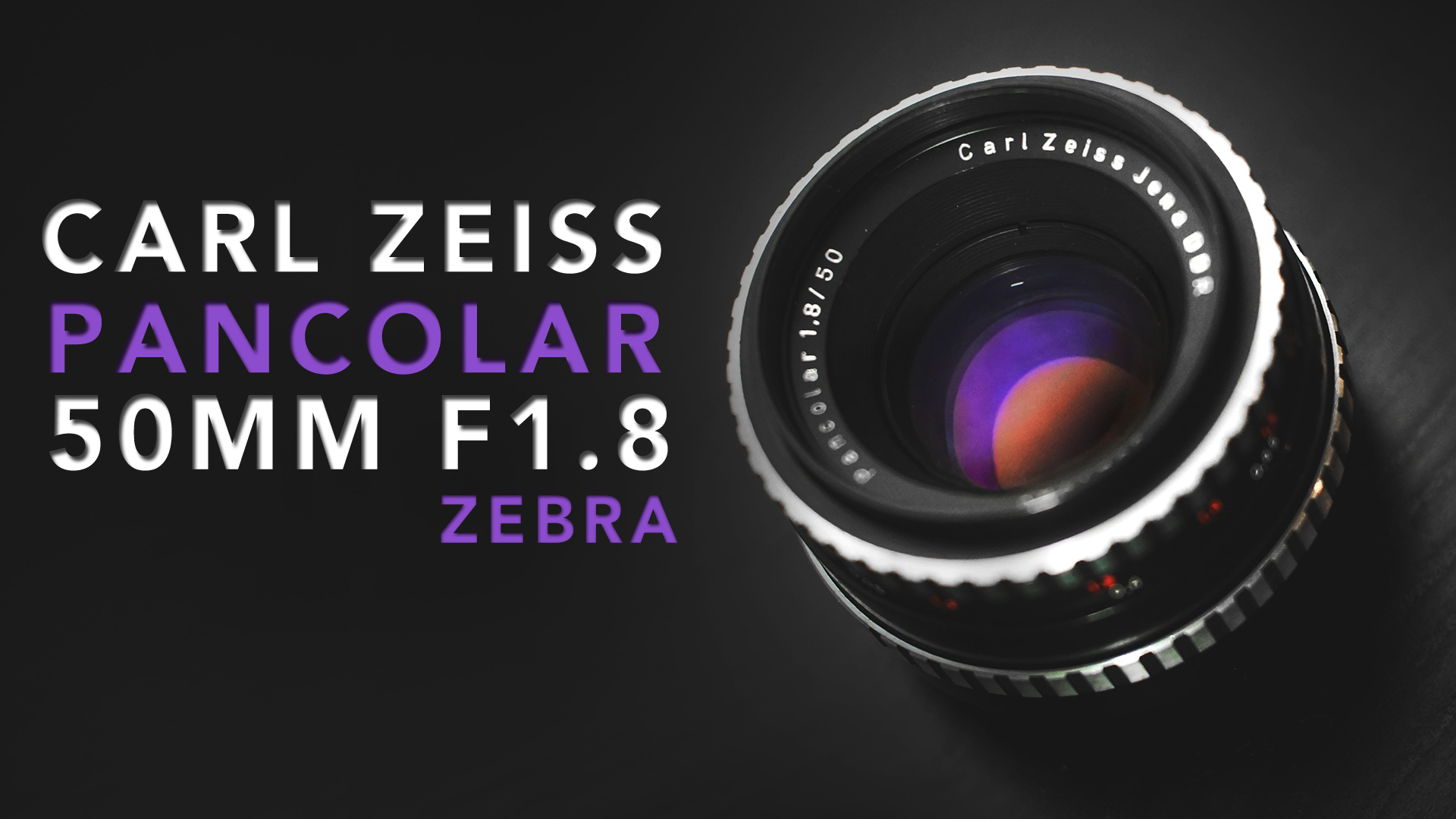 "Carl Zeiss Jena Pancolar 50mm F1.8 ""Zebra"" 
