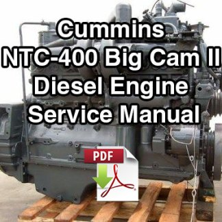 Cummins NTC-400 Big Cam II Diesel Engine Service Manual