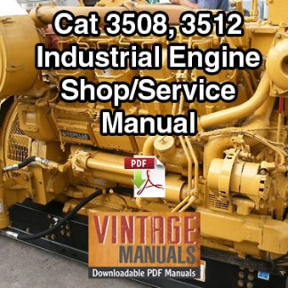 Cat 3508, 3512 (68Z, 65Z) Industrial Diesel Engine Shop Service Manual