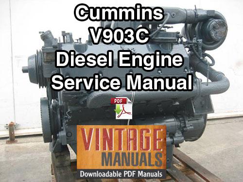 Cummins V903C Diesel Engine Shop Service Manual - VintageManuals