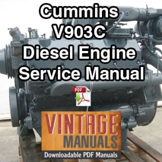 Cummins V903C Diesel Engine Shop Service Manual