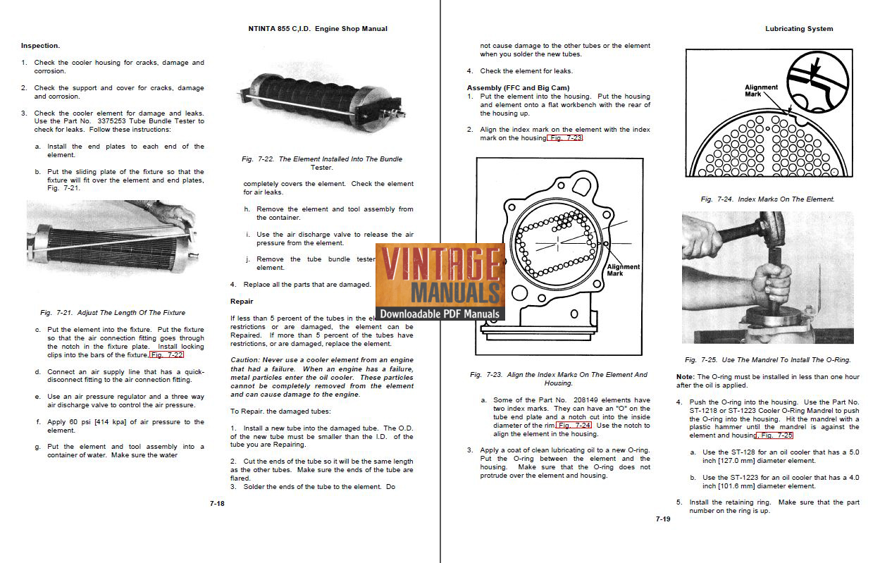 Cummins NH/NT/NTA 855 Diesel Engine Shop Service Manual