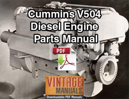 Cummins V504 Diesel Engine Parts Manual