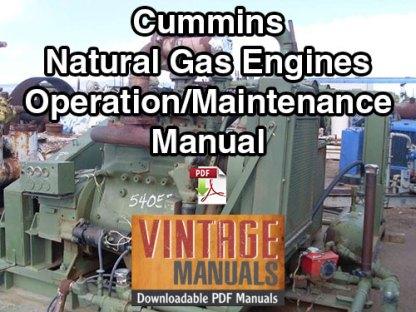 Cummins Natural Gas Engine Operation & Maintenance Manual