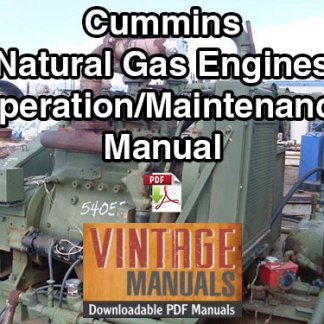 Cummins Natural Gas Engine Operation & Maintenance Manual