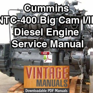 Cummins NTC-400 Big Cam I and III Diesel Engine Service Manual