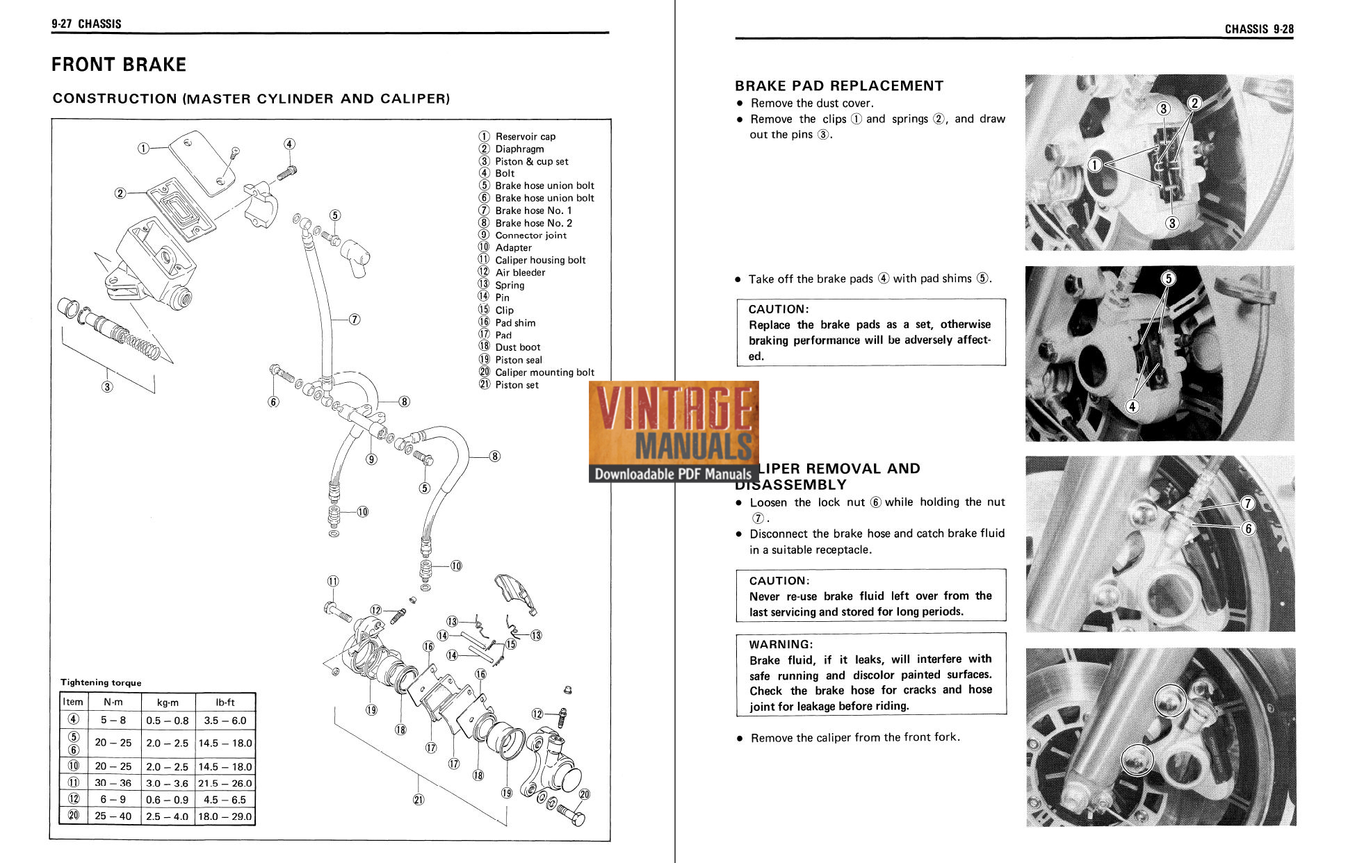 1986-1990 Suzuki GV1400 Cavalcade Motorcycle Repair Manual