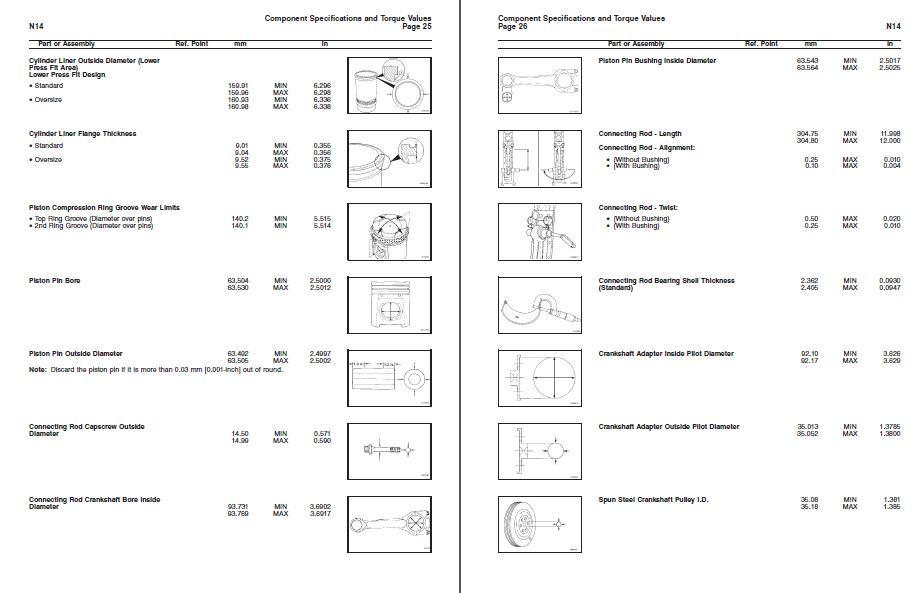 Cummins N14 Diesel Engine Complete Specifications Manual ...