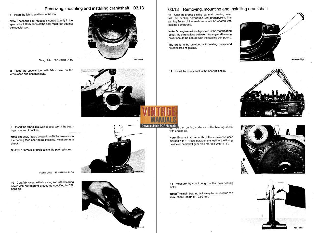 Mercedes Benz OM441, OM442, OM443, OM444 Engine Workshop