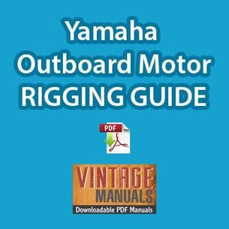Yamaha outboard motor rigging guide PDF download
