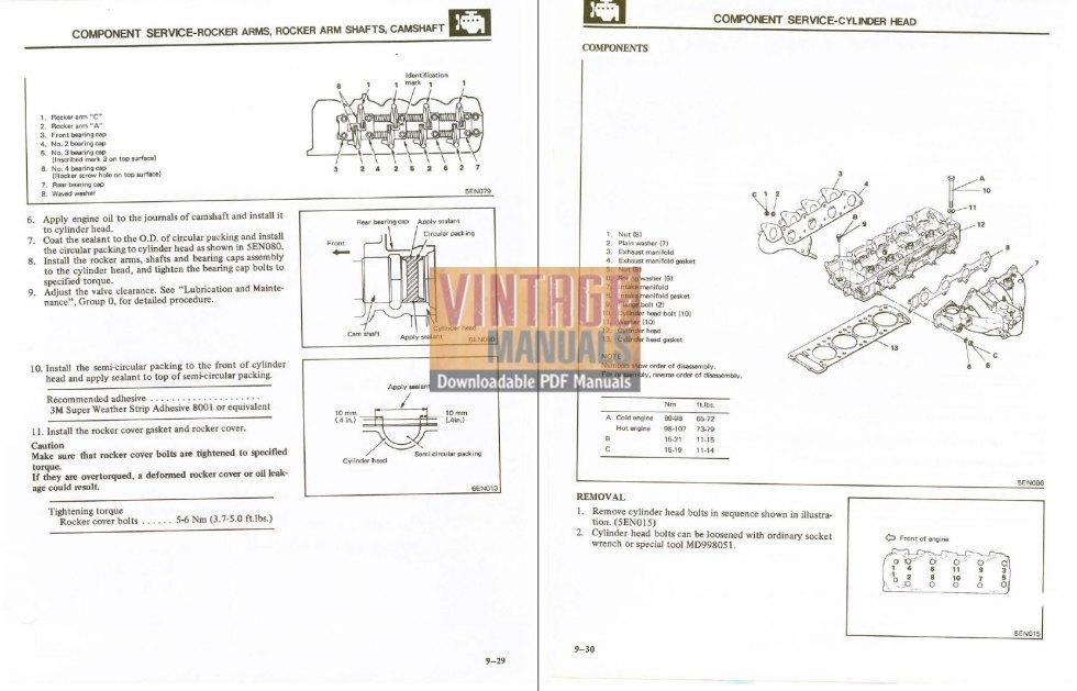 1984 mitsubishi montero factory service manual