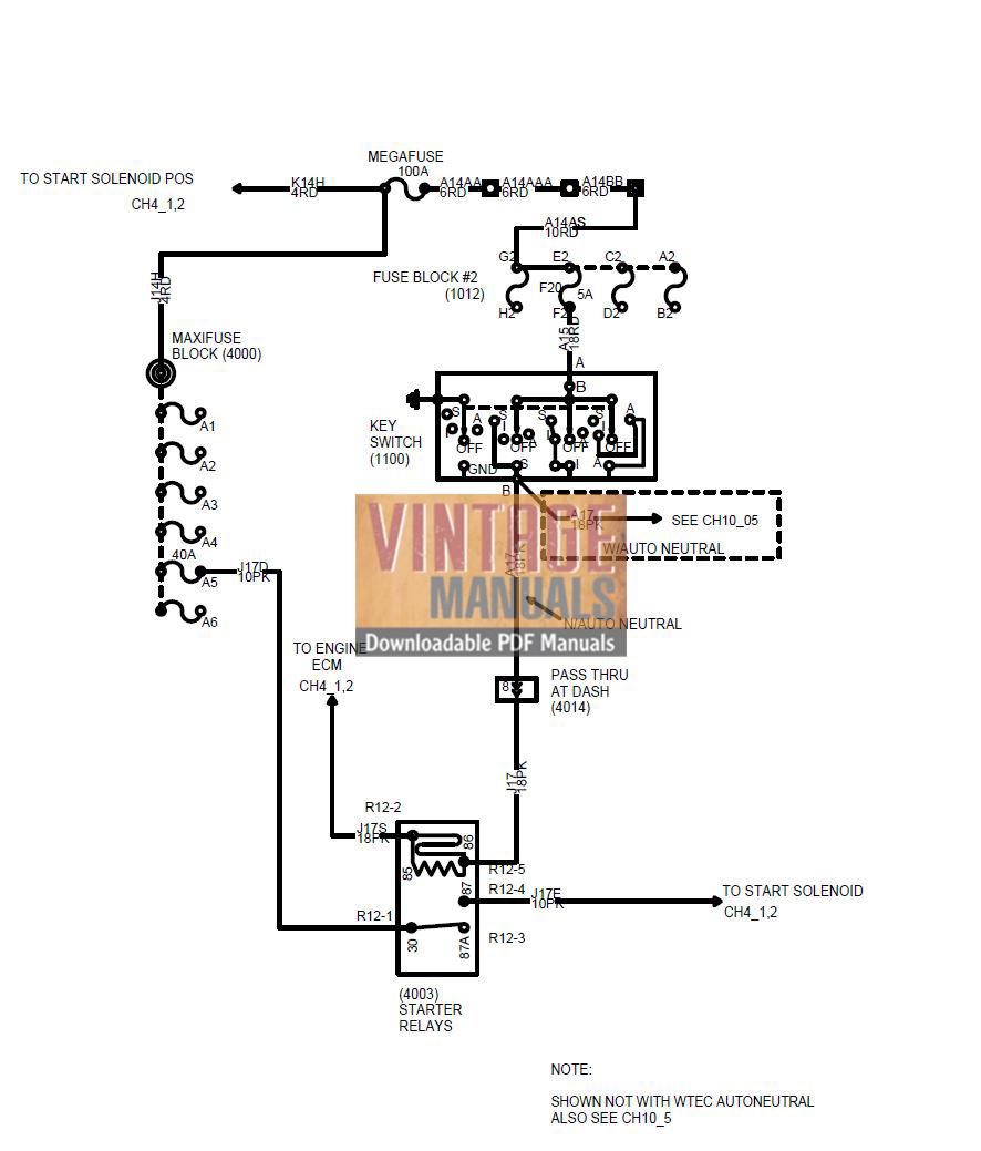 International 4200, 4300, 4400 Truck Wiring Diagram PDF