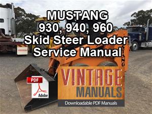 Mustang 960 Skid Steer Loader