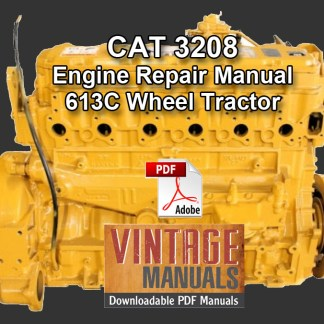 CAT 3208 engine repair