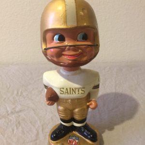 New Orleans Saints NFL Extremely Scarce Nodder 1965 Vintage Bobblehead Gold Base