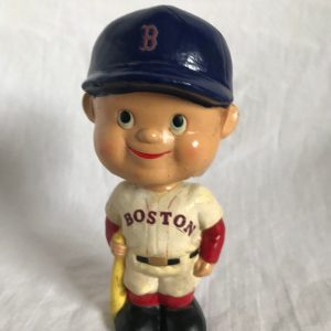 Boston Red Sox MLB Flat Cap Extremely Scarce Mini Nodder 1961 Vintage Bobblehead