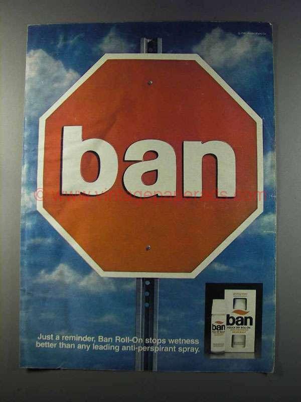 1981 Ban Deodorant Ad - Just a Reminder