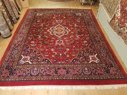 vintage handgeknoopt perzisch tapijt Mashad