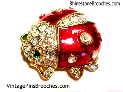 e3132164e55 Vintage Beetle Pin Brooch Rhinestones, Beetles Insect Bug Brooches Pins, Ladies  Designer Jewelry,